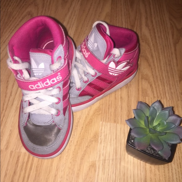adidas Shoes | Pink Adidas High Tops